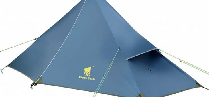 La tenda ultraleggera che si costruisce con un bastone